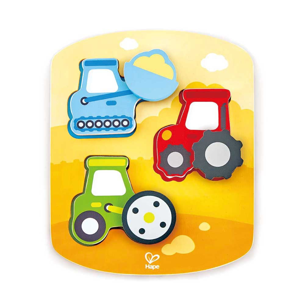 Puzzle Dinámico de Vehículos Hape Regalos Delivery